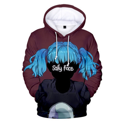 Unisex Sally Face Hoodie Casual Long Sleeve Pullovers Hoodies Sweatshirt