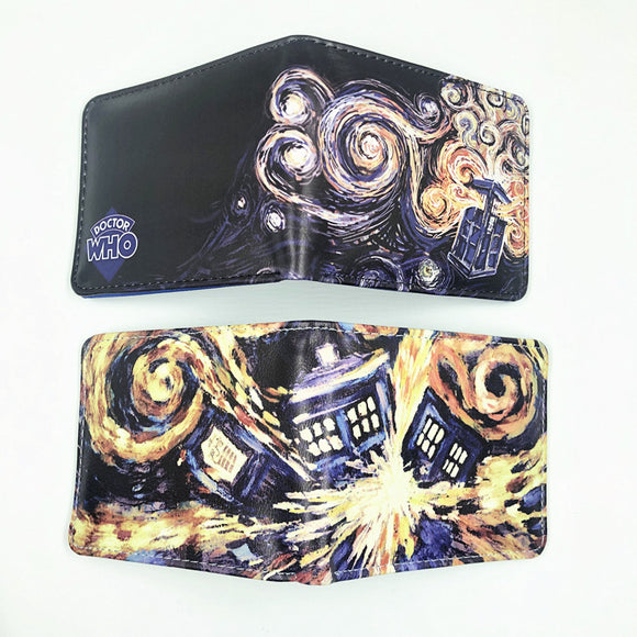 Doctor Who Short Tardis Purse PU Leather Blue Wallet