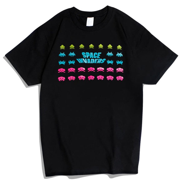 Space Invaders Colours Casual Short Sleeve T-Shirt