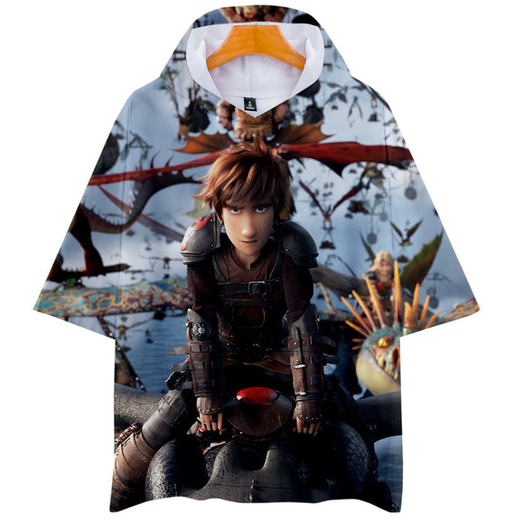 How to Train Your Dragon Hoodie Hiccup Night Fury 3D Print-Fandomsky