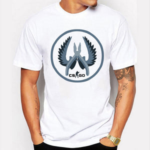 Men's Cotton Classics CS GO tshirt Large White-Fandomsky