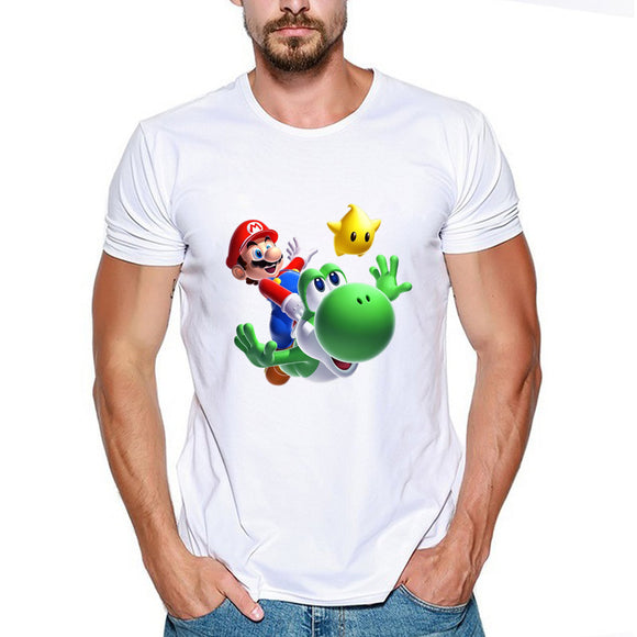 Super Mario T-Shirt Fly Short Sleeve-Fandomsky