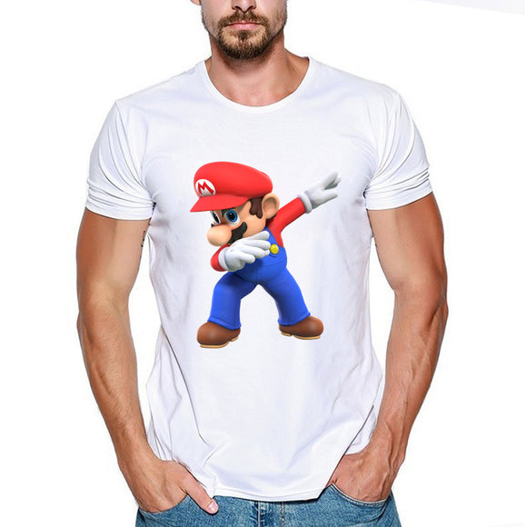 Super Mario Casual T-Shirt Short Sleeve-Fandomsky