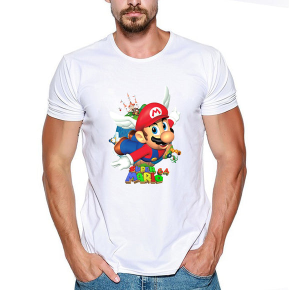 Super Mario Fly T-Shirt Shor Sleeve-Fandomsky