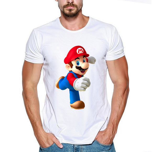 Super Mario Short Sleeve Casual T-Shirt-Fandomsky