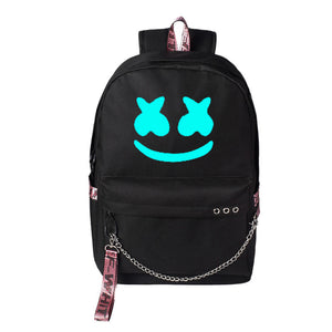 DJ Marshmello Backpack with USB Charging Port, School Backpack Casual Daypack Travel Laptop Backpack for Boys and Girls-Fandomsky