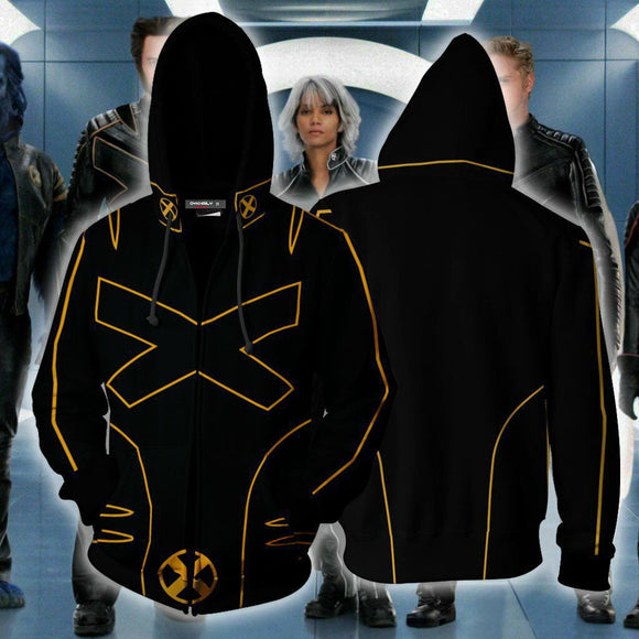 X-Men Wolverine Hoodie Zipper Up Jacket Cosplay Costume-Fandomsky