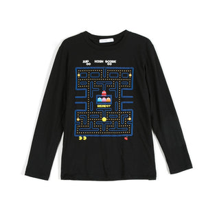 Pac-Man Game Start  Map Adult Short Sleeve Casual T-Shirt