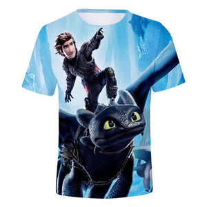 3D Print How to Train Your Dragon T Shirt Night Fury T Shirt-Fandomsky