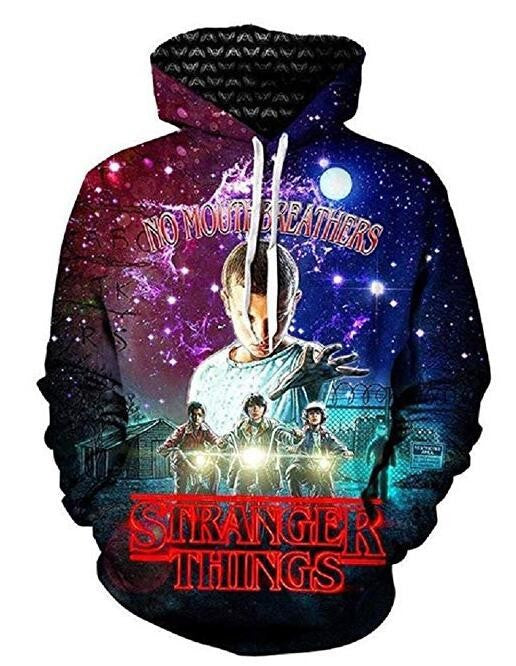 Unisex 3D Print Stranger Things Pullover Hoodie Hooded Sweatshirt Costume-Fandomsky