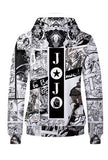 Anime JoJo's Bizarre Adventure Hoodie Sweatshirt Jacket Costume Fleeces Adult Cosplay-Fandomsky