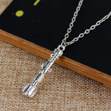 Doctor Who Sonic Screwdriver Metal Pendant Chain Costume Accessory Necklace-Fandomsky