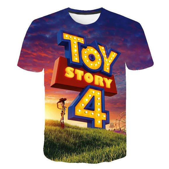 3D Print Toy Story Logo T-Shirt Casual T-Shirt
