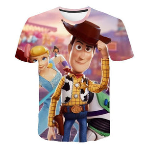 3D Print Toy Story Woody T-Shirt Casual T-Shirt-Fandomsky