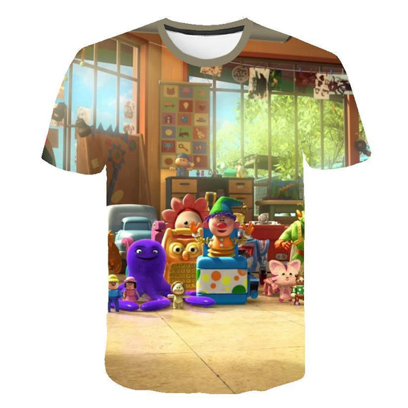 3D Digital Print Toy Story Design Lover's Short Sleeve Summer T-Shirts