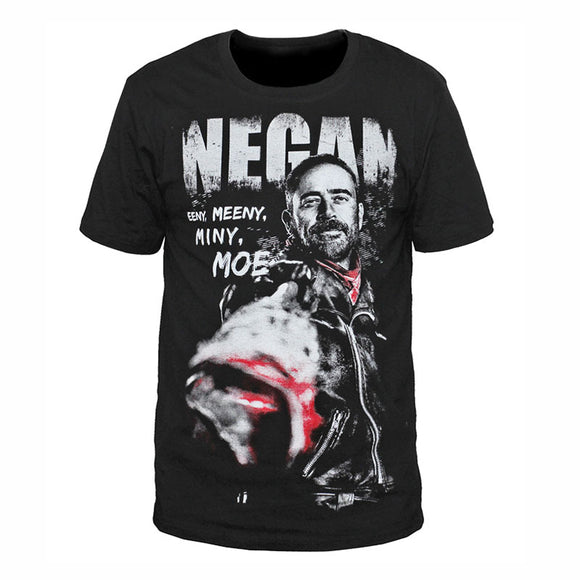 Negan -Eeny, Meeny, Miny, Moe. - The Walking Dead T-Shirt-Fandomsky