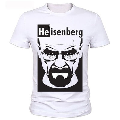 Breaking Bad Heisenberg - Mens Cotton T-Shirt-Fandomsky