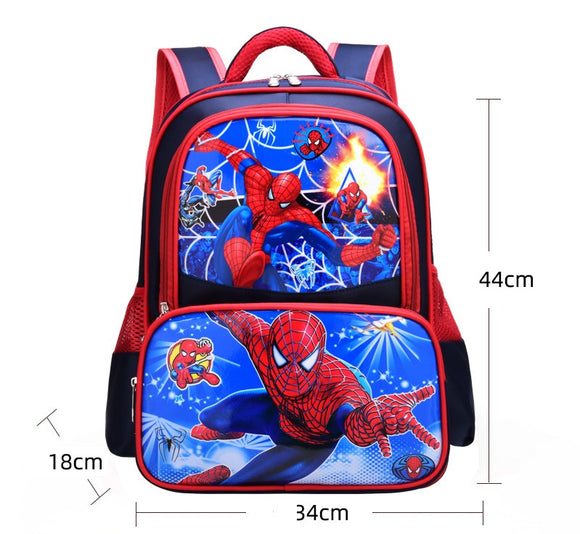 3D Print School Bag For Kids Spiderman Light Cartoon Casual Backpack-Fandomsky