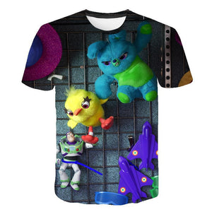 New 2019 Toys Story Cartoon 3D Printed Top Women Men Casual T-Shirts