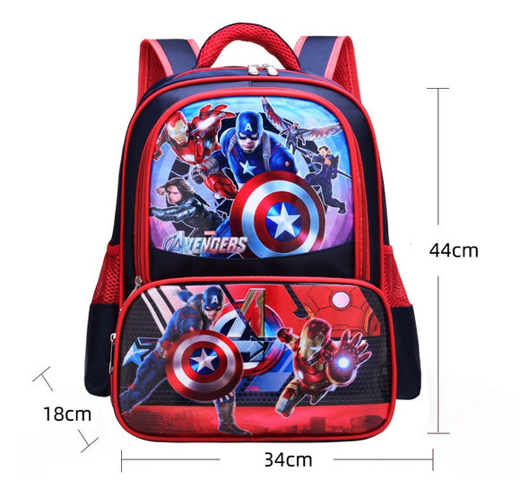 3D Print School Bag For Kids Captain America Light Cartoon Casual Backpack-Fandomsky