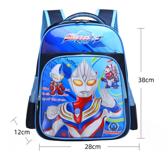3D Print School Bag For Kids Ultraman Light Cartoon Casual Backpack-Fandomsky