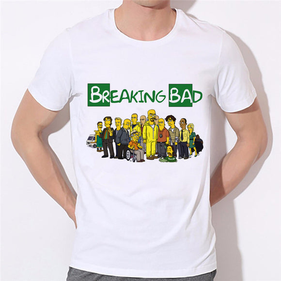 Breaking Bad Cartoon Printed T-Shirt-Fandomsky