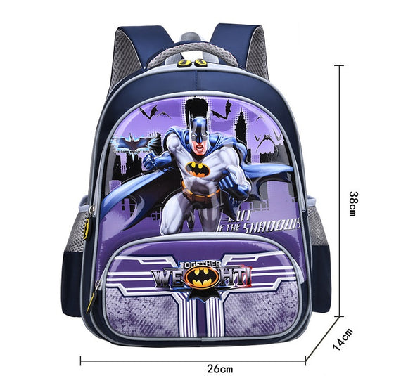 3D Print School Bag Kids Batman Light Cartoon Casual Backpack-Fandomsky