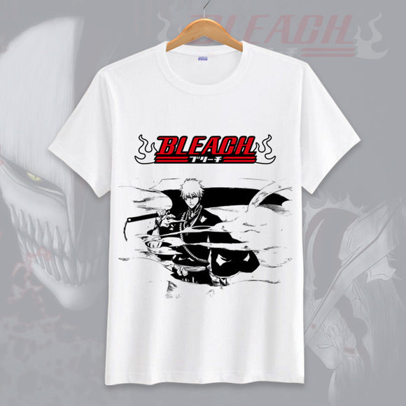 Bleach Kurosaki Ichigo Men Casual T-Shirt Short Sleeve Shirt-Fandomsky