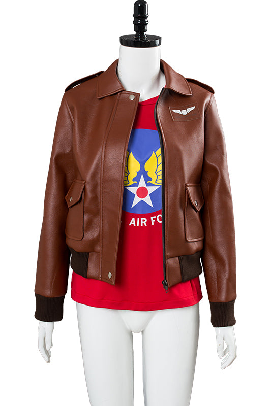 Captain Marvel Carol Danvers U.S.Air Force T Shirt Bomber Jacket Casual Suit-Fandomsky