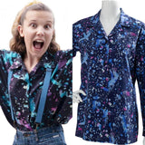 Stranger Things Season 3 Eleven Cosplay Costume T-Shirt Halloween Dress Ouifit-Fandomsky