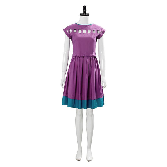 Stranger Things 3 Nancy Wheeler Cosplay Dress Halloween Women Girls Purple Openwork Dress