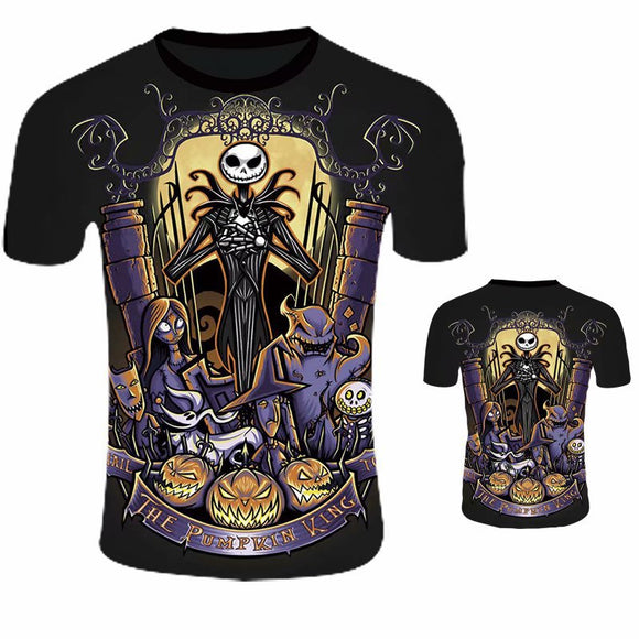 Unisex 3D Print Nightmare Before Christmas T-Shirt-Fandomsky