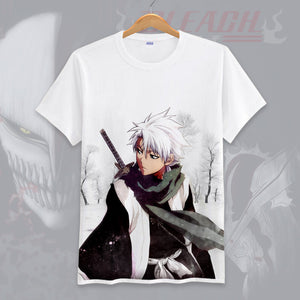 3D Print Bleach Hitsugaya Toushirou Men T-Shirt Short Sleeve Shirt-Fandomsky