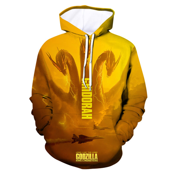Hoodie Godzilla 2 King of Monsters 3D Printed Hooded Pullover Sweatshirt Unisex-Fandomsky