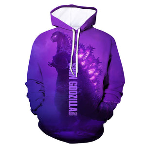 Unisex Hoodie Godzilla 2 King of Monsters 3D Printed Hooded Pullover Sweatshirt-Fandomsky