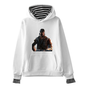 Days Gone Stripe Hoodie Hooded Sweatshirt Ps4 Gamer Mens