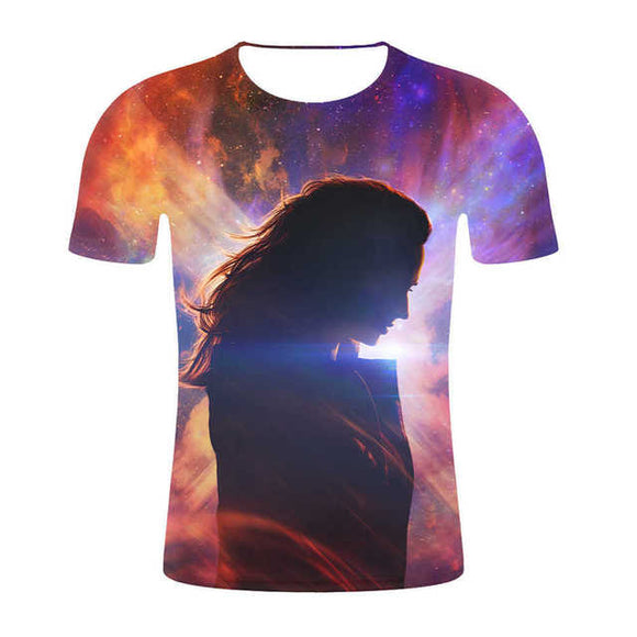 Unisex X-Men Dark Phoenix 3D Print Short Sleeve Casual T-Shirt-Fandomsky