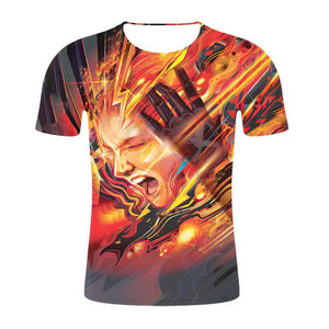 Unisex 3D Print X-Men Dark Phoenix Short Sleeve Casual T-Shirt-Fandomsky