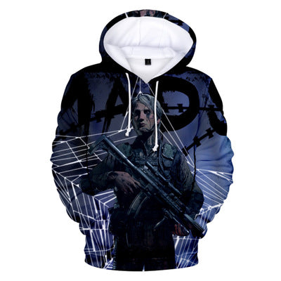 Unisex Playstaion Death Stranding Street Trend 3D Color Printing Hooded Sweater
