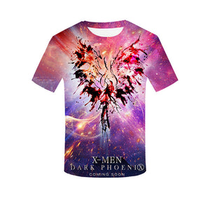 X-Men Dark Phoenix 3D Print Unisex Short Sleeve Casual T-Shirt-Fandomsky