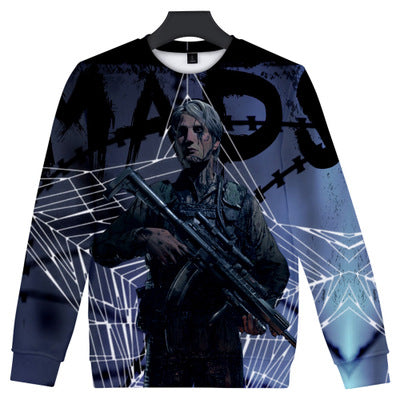 Unisex Playstaion Death Stranding Hoodie 3D Color Printing Stand Pullover Sweater
