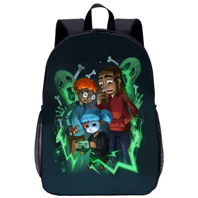 Kids Sally Face Lightweight Backpack Students Laptop Bag Boys Girls Back to School Gift