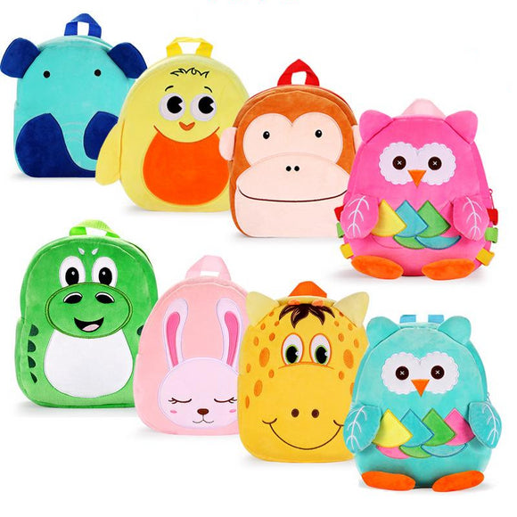Cute Toddler Backpack, Cartoon Cute Animal Plush Backpack Toddler Mini School Bag for Kids