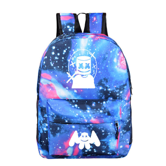 Kids Backpack DJ Marshmello School Hiking Travel Shoulder Bag Student Starry Sky Daypack For Teen Boys Girls