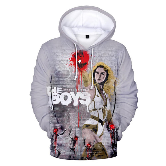 Unisex The Boys Hoodies Teens Novelty Hooded Sweatshirts Spring Pullover Outerwear Sportswear
