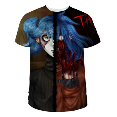 Unisex Sally Face T Shirt Cosplay Short Sleeve Tshirt Graphic Tee Tops