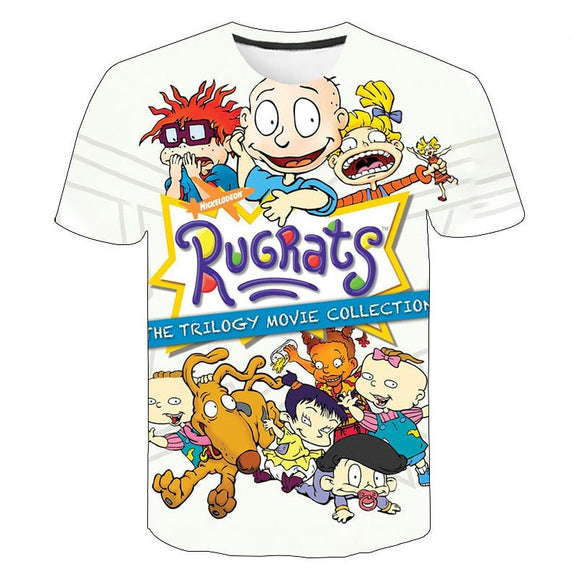 Unisex Rugrats T-shirt Men Women Summer O-neck T-shirt Casual Street Shirts