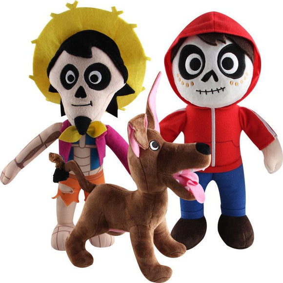 Movie Coco Cartoon Figure Plush Doll Soft Stuffed Toys Children Gift Toys Plush Toys