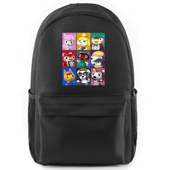 Students Game School Book Bag Animal Crossing Backpack Teenagers Shoulder Bags
