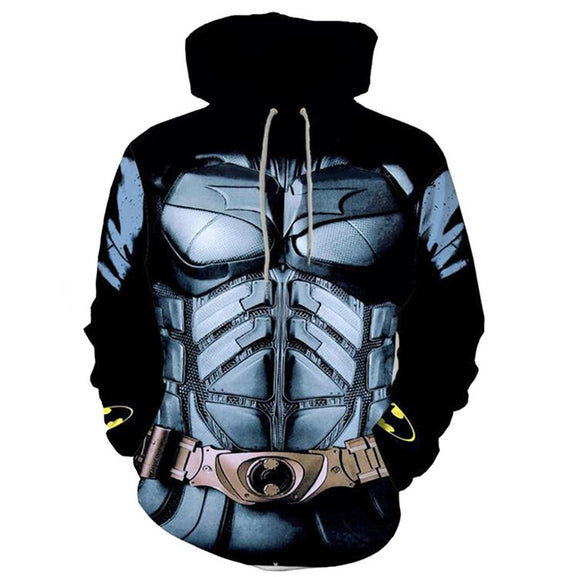 3D Print Batman Hoodie Pullover Hooded Sweatshirt